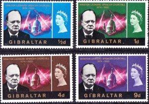 GIBRALTAR 1966 QEII Churchill Commemoration Set SG184-187 MH