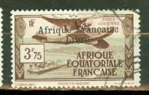 P: French Equatorial Africa C11 used CV $240