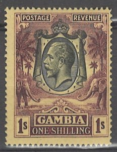 COLLECTION LOT # 3046 GAMBIA #123 WMK 3 MH 1927 CV=$35