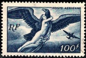 Zeus Carrying Hebe, France stamp SC#C20 used
