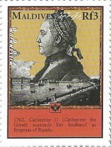 Maldive Islands 2421h (mnh) 3r Catherine the Great (2000)
