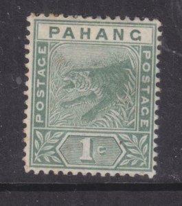PAHANG, MALAYSIA, 1895 Tiger, 1c. Green, heavy hinged mint.