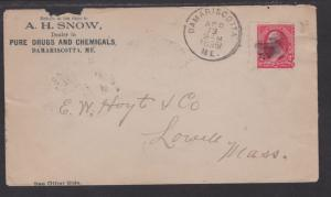 AH Snow Drug and Chemical Ad Cover Damariscotta ME 1895