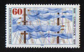 Germany 1980 MNH Johan Kinau ( ' Gorch Fock ' ) complete