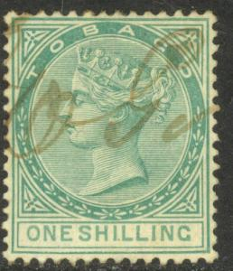 TOBAGO 1890 QV 1sh REVENUE BFT 17 VFU