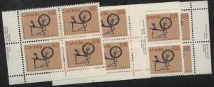 Canada - 1985 68c Spinning Wheel Imprint Blocks #933
