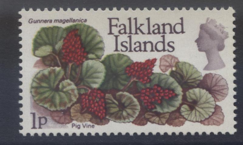 Falkland Is.-Scott 211 - Flowers-Pig Vine- 1972 - MVLH -Single 1p Stamp