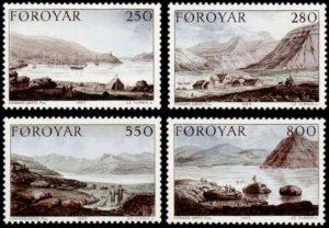 Faroe Islands #121-124 Fa114-117 MNH CV$6.00