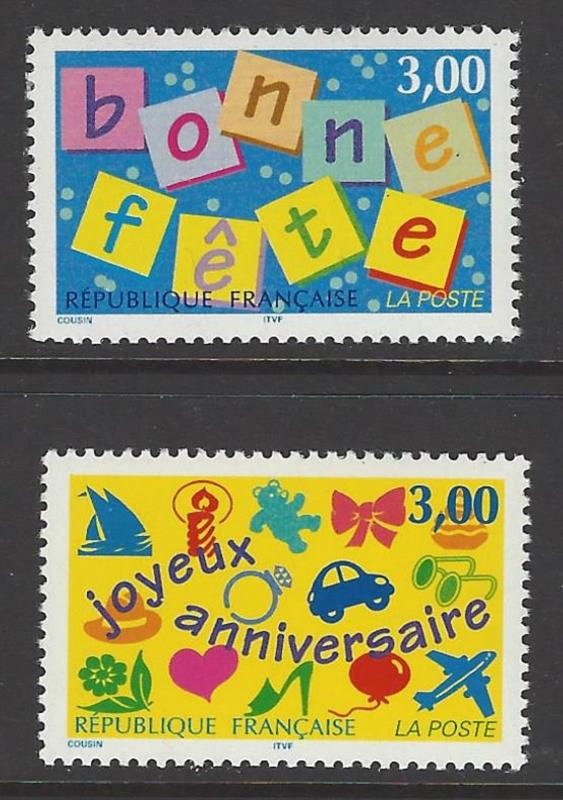 France 1997 Happy Holiday VF MNH (2555-6)