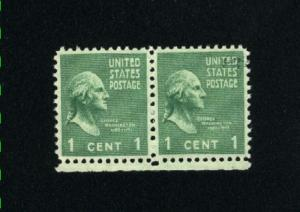 USA #804  pair  used 1938 -1954 PD .12
