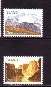 Iceland Sc 622-3 1986 Europa Nat Parks stamps mint NH