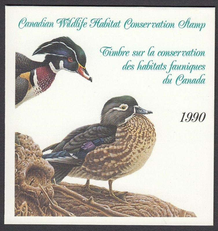 Canada, (Revenue, Wildlife) Unitrade FWH6, MNH booklet