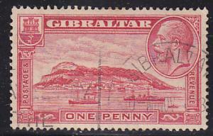 Gibraltar 96 Hinged Used 1931 Rock of Gilbraltar