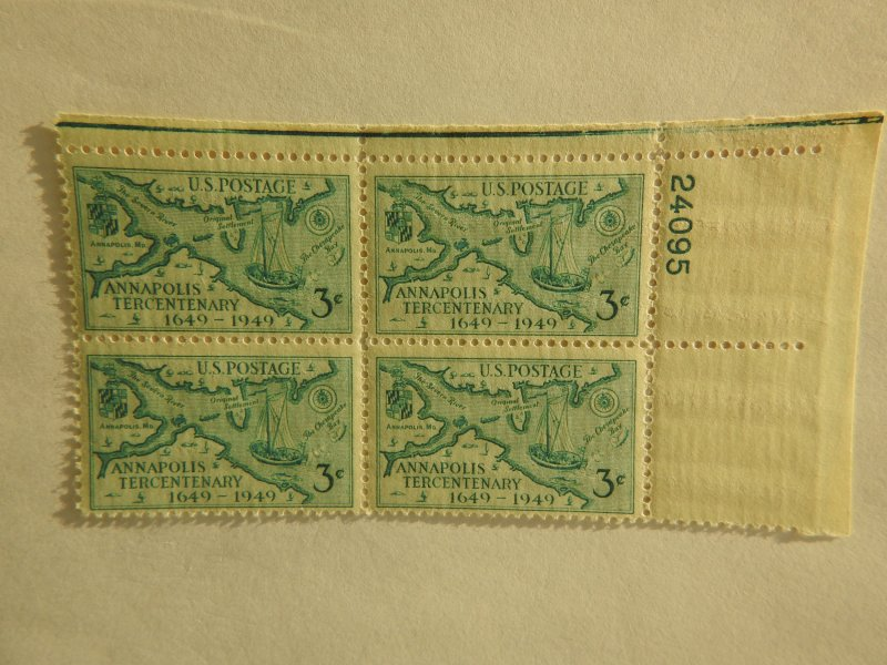 U. S. #984 MINT corner block  OG  NH