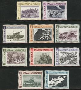 Poland Scott 1610-1619 MNH** 1968 Art set