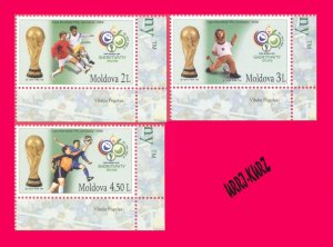 MOLDOVA 2006 Sport Football Soccer FIFA World Cup Championship Germany 3v MNH