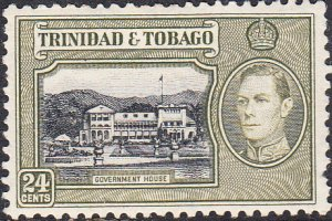 Trinidad & Tobago #58 MH  Pulled Perf