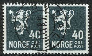 Norway 1940-41, NK 250 Pair Son sw Budalen 4-8-44 (ST)