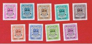 Tuvalu #J1-J9  MNH OG   Postage Due   Free S/H