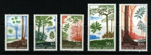 GABON 1967 The Complete Forestry Set SG 305 to SG 309 MNH