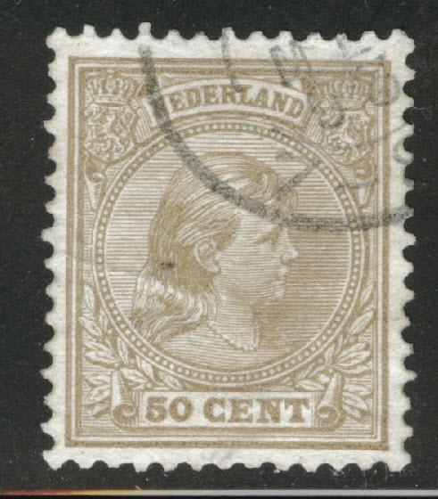 Netherlands Scott 49 used Princess Wilhelmina 1891-94 CV$20