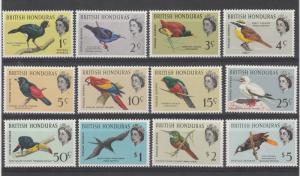BRITISH HONDURAS 1962 QEII BIRD SET MNH **