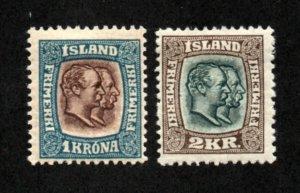 Iceland - Sc# 83 & 84 MH    -     Lot 0421078