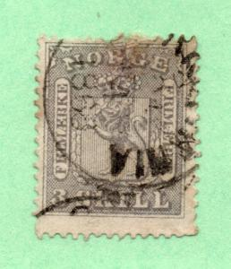 Norway - Facit # 7  / Sc# 7 Used / Repared thin/ perf  -  Lot 0918135