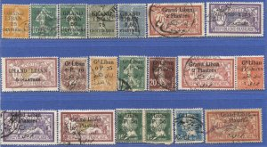 LEBANON France 20 used Occupation stamps 1924-25 issues, Scott $42
