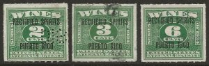 Puerto Rico   Porto Rico 1934 Rectified Spirits Revenue #RE19/RE23 Fine Used