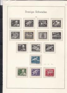 sweden 1936-38  stamps page ref 18058