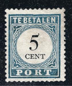 J6 Postage Due Mint Unused Netherlands VF SCV$140 Make me an OFFER!