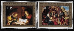 Upper Volta 1972 Nativity Christmas Sc C127-128 Used A1255