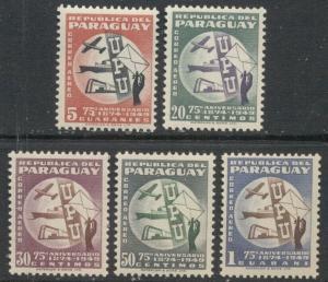 PARAGUAY - UPU:  1950 MNH Complete Set; Sc C179-183