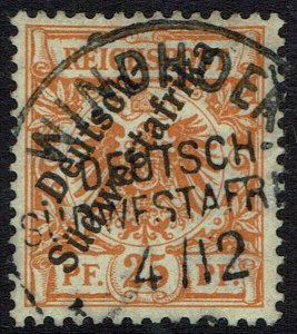 GERMAN SOUTH WEST AFRICA 1897 EAGLE 25PF USED