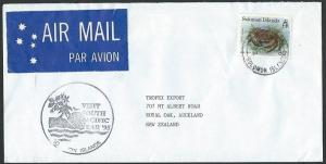 SOLOMON IS 1995 Airmail cover to NZ  VISIT SOUTH PACIFIC YEAR slogan.......12172