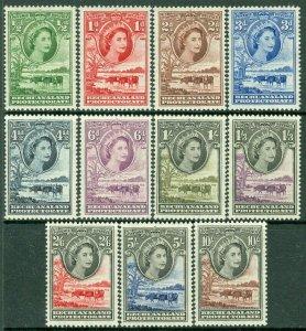 EDW1949SELL : BECHUANALAND 1955 Scott #154-65 Cplt except for #158 VFMOG Cat $94