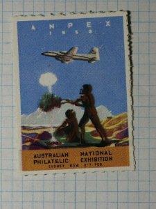 ANPEX Exhibition Australia 1959 Philatelic Souvenir Ad Label