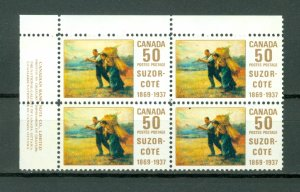 CANADA 1969 SUZOR COTE #492 UL CORNER BLK MNH...$25.00