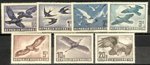 Austria #C54-C60 MNH CV$332.60 Rooks/Swallows/Gulls/Cormorants/Buzzard/Heron/...