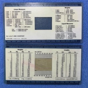 ELI LILLY - vintage promotional ruler # 60-MG-0906 - USEFUL