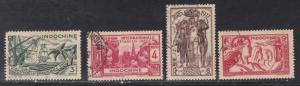 Indo-China #  194-197, Paris International Exposition, Used