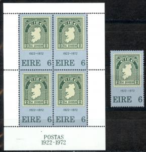 Ireland Sc# 326-326a MNH 1972 1st Irish Stamp 50th