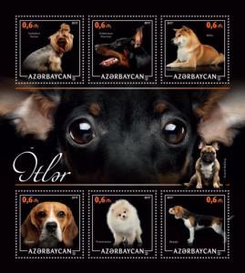 AZERBAIJAN 2017 SHEET DOGS azrb17204a