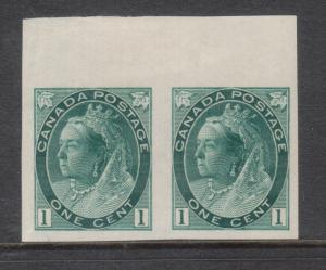 Canada #75a XF/NH Imperf Pair **With Certificate**