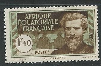 French Equatorial Africa  + Scott # 60 - MH