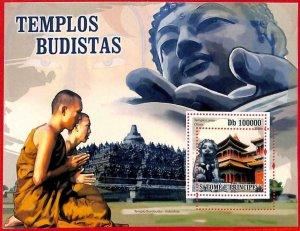 A3192- SAO TOME & PRINCIPE, ERROR MISSPERF Souvenir sheet: 2009 Buddhist Temples