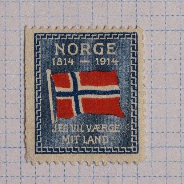Norway Patriotic I will Defend my Country 1814 1914 Flag centenary Stamp DL