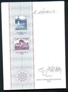 NORWAY NORWEX 80 Norges Bank - AUTOGRAPHED