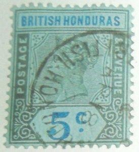 British Honduras 1899 Scott #52 used